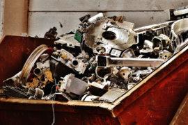 Proceso de reciclaje de chatarra